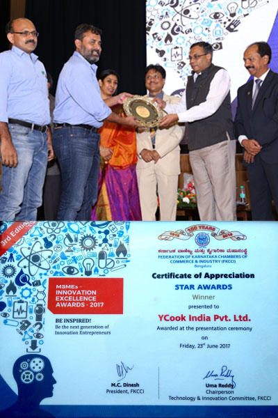 Y-Cook - Winner of MSME Innovation Excellence award by FKCCI