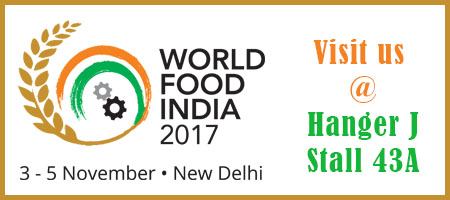 Visit us at World Food India, 2017 - New Delhi